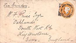 INDIA - ENVELOPE 1891 CALCUTTA Via BRINDISI > ESSEX /AA180 - 1882-1901 Imperium