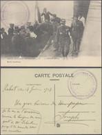 """Carte Postale - Arrivée Du Général Gouraud à Casablanca + Cachet Militaria """"121e Régiment Territorial T.O.M.O."""" - Unclassified"""