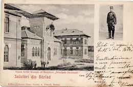 Salutari Din BARLAD BERLAD - SCOLEI DE INVETATORI PRINCIPELE FERDINAND - FORMATO PICCOLO - VIAGGIATA 1906 - (rif. F17) - Romania