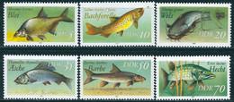 DDR - Mi 3095 I / 3100 I - ** Postfrisch (B) - Süßwasserfische - Neufs