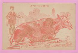 LA PETITE VACHE - Carte à Regarder Avec Un Filtre Rose Ou Rouge Pour Voir Le Dessin Coquin Caché En Dessous - Humor