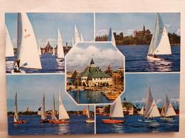 Old Mozaic Postcard HELSINKI HELSINGFORS ESTELASATAMA THE SOUTH HARBOUR Ssilboats Sailing Regattas FINLAND Regatta - Finnland