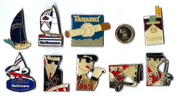 TABAC - T5 -  LOT De 10 Pin's Divers - Verso : DIVERS - Sets