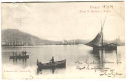 Trapani Monte S. Giuliano E Riviera Porto Con Barche Andata 1901 - Trapani