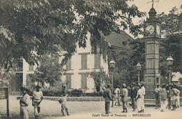Mahé Palais De Justice . Court House And Treasury . Seychelles . Lampadaires Petrole. Horloge . - Seychelles