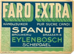 Oud Etiket / Ancienne étiquette Bier Bièrre : Faro Extra - Brouwerij Eylenbosch Schepdaal - Bier