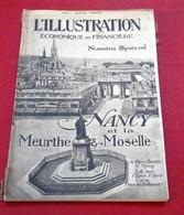 L'Illustration Economique Spécial 1923 Nancy Meurthe Et Moselle Droitaumont Longwy Baccarat Verreries Daum Majorelle ... - Economia