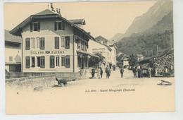 SUISSE - VALAIS - ST GINGOLPH (Douane Suisse - Café De La Poste ) - VS Valais