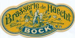 Oud Etiket / Ancienne étiquette Bier Bièrre : Bock - Brouwerij Haecht - Bier