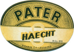 Oud Etiket / Ancienne étiquette Bier Bièrre : Pater - Brouwerij Haecht - Bier
