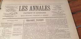 ANNALES 03/PONT AUX DAMES MAISON ARTISTES COQUELIN CLARETIE /ADOLPHE ADAM ORANGE JEAN AICARD PELLETAN BERNHARDT - 1900 - 1949
