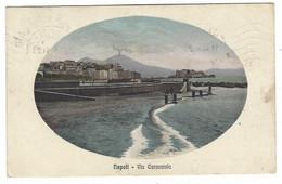 7542 - NAPOLI VIA CARACCIOLO DISEGNATA 1914 - Napoli (Napels)