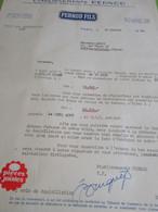Lettre Commerciale/PERNOD FILS/ Service Comptabilité/ Paris / Leroy Rue Henri IV Ivry La Bataille/ /1955   FACT362 - Factures