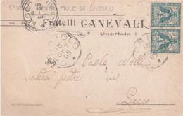 """CAPRIOLO - BRESCIA - CARTOLINA COMMERCIALE PUBBLICITARIA """"FRATELLI CANEVALI""""-CAVE DI PIETRE MOLE DI SARNICO-MINIERA-1905 - Brescia"""