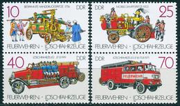 DDR - Mi 3101 / 3104 SZd 340 + 344 - ** Postfrisch (G) - Feuerwehren Löschfahrzeuge - Neufs