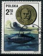 POLAND 1973 - Mi. 2286 O, Submarines | Ships | Stefan Drzewiecki And Submarine - Submarines