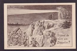 CPA Allemagne Patriotique Germany Caricature Satirique Voir Scan Du Dos Scatologie Zeppelin - Satirical