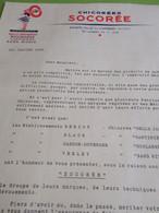 Lettre Commerciale De Démarchage/ SOCOREE/ Groupe Marques De Chicorée/ SAINTE-OLLE-Les CAMBRAI, NORD /1955   FACT363 - Factures