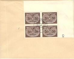 MiNr.5 4rer Block Eckrand Dienstmarken  GG Auf Sammlerbeleg - Occupation 1938-45