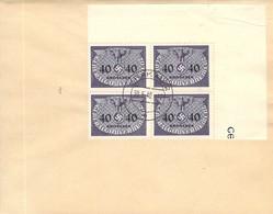 MiNr.8 4rer Block Eckrand Dienstmarken  GG Auf Sammlerbeleg - Occupation 1938-45