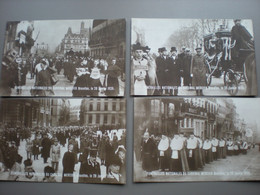 BRUXELLES - FUNERAILLES NATIONALES DU CARDINAL MERCIER 1926 - LOT DE 6 CARTES PHOTOS - Zonder Classificatie