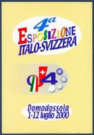 °°° Cartoncino 4° Sposizione Italo - Svizzera Con Annullo Speciale °°° - Wereldtentoonstellingen