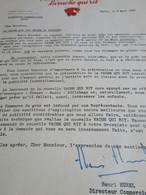 Lettre Commerciale/LA VACHE QUI RIT/50 % De Matiéres Grasses /Fromagerie BEL/La V Qui R  Brise La Routine/1955   FACT364 - Invoices