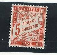 Taxe N°66 (5 Frs Orange) Neuf Avec Charnière - 1859-1955 Postfris