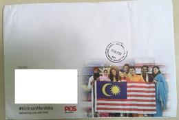 Malaysia Free Postage Kiriman Malaysia Cover Selangor Postmark August 2018 Prepaid Cover No Stamps - Malaysia (1964-...)