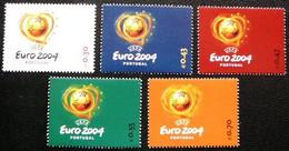 (dcbv-1518)  Portugal     Michel  2686-90          MNH   2003 - Europees Kampioenschap (UEFA)