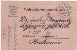 Polen - Poland - Polska - Krakowie - Feldpost  - Zensur - 1914 - Sehuschitz - Ganzsachen