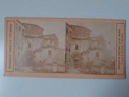 Photo Stéréoscopique Sur Carton Firenze Italie - Stereoscopic
