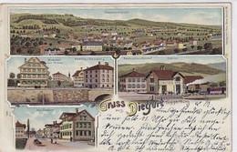 Gruss Aus Dietfurt Toggenburg - Litho - Verl. Max Roon - 1904            (01019) - SG St-Gall