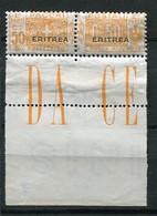 ERI - COLIS POSTAUX  1924 Yv. N°  13 BdF   Surcharge Plus Large  ** MNH 50c  Orange  Cote  5 Euro  TBE   2 Scans - Eritrea