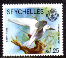 SEYCHELLES - 1977-1984 WHITE TERN BIRD 1977 1R 25c STAMP NO IMPRINT DATE FINE MNH ** SG 413A - Seychellen (1976-...)
