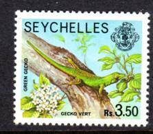SEYCHELLES - 1977-1984 GREEN GECKO 1978 3R 50c STAMP NO IMPRINT DATE FINE MNH ** SG 415A - Seychellen (1976-...)