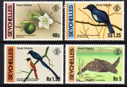 SEYCHELLES - 1978 WILDLIFE SET (4V) FINE MNH ** SG 433-436 - Seychellen (1976-...)