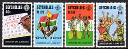 SEYCHELLES - 1978 LIBERATION DAY SET (4V) FINE MNH ** SG 424-429 - Seychellen (1976-...)