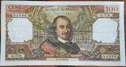 Billet De 100 Francs CORNEILLE 7 - 2 - 1974 FRANCE  G.778 - 1962-1997 ''Francs''
