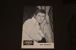 C352 Udo Jurgens Vogue Schallplatten - Autógrafos
