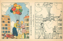"""CARTE à COLORIER ANCIENNE - PUB """" NESCAO - NESTLE """" - Format Double CPA - Largeur 14 Cm - ILLUSTRATEUR; Marcel PRANGEY - Oude Documenten"""