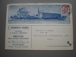 VILVORDE - CARTE PUB F. TIMMERMANS - MICHIELS - FABRIQUE RUE DE L'ORME - Vilvoorde
