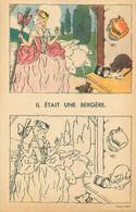 """CARTE à COLORIER ANCIENNE - PUB """"NESTLE """" - CHANSON - Format Double CPA - Largeur 14 Cm - ILLUSTR; M. PRANGEY - Oude Documenten"""