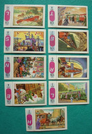 9 Images Collection NESTLE Et KOHLER Les Merveilles Du Monde Album N° 5  Série 128 N° 2-3-4-5-6-7-8-9-10 Véhicules - Schokolade