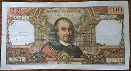 Billet De 100 Francs CORNEILLE 8 - 11 - 1973 FRANCE  G.764 - 1962-1997 ''Francs''