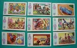 9 Images Collection NESTLE Et KOHLER Les Merveilles Du Monde Album N° 5  Série 127 N° 2-3-4-5-6-7-8-10-11 Véhicules Roue - Schokolade