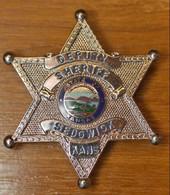 "Belle Plaque Etoile De Sherif ""Deputy Sheriff Sedgwick Kans. / State Of Kansas"" Etats-Unis - United States - Stati Uniti"