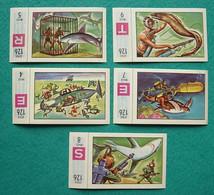 5 Images Collection NESTLE Et KOHLER Les Merveilles Du Monde Album N° 5  Série 126 N° 4-5-7-8-9 Sous Marin - Schokolade