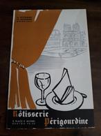 Menu Rôtisserie Périgourdine, Place Saint Michel, Paris, Du 10 Juin 1962 - Menu