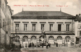 JMD8853ChatelPlace De L'hôtel De Ville - Bien AniméeCirculée 1916 - Chatel Sur Moselle